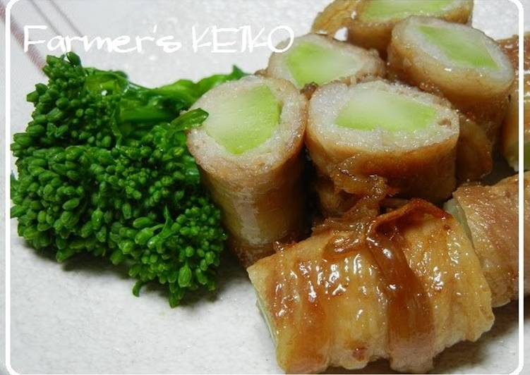 [Farmhouse Recipe] Meat-Wrapped Broccoli Stalk