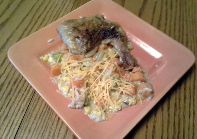 Steps to Make Favorite Hardy Crockpot Chicken & Rice