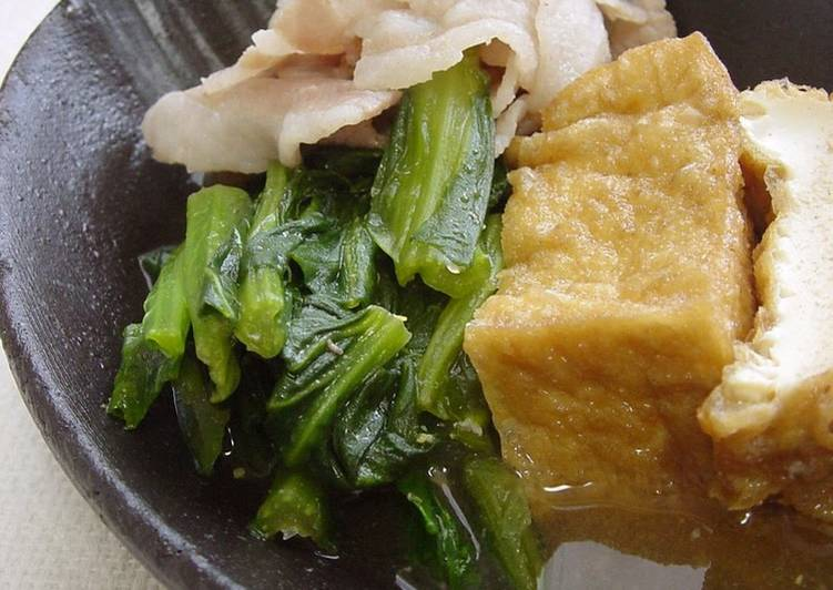 Recipe of Speedy Simmered Komatsuna and Pork Belly