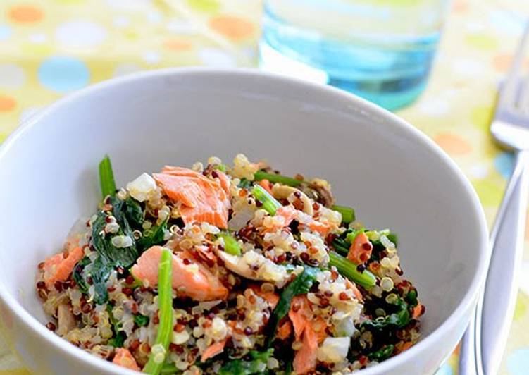 30+ Dinner Easy Ultimate Salmon & Spinach Quinoa (Gluten-Free)