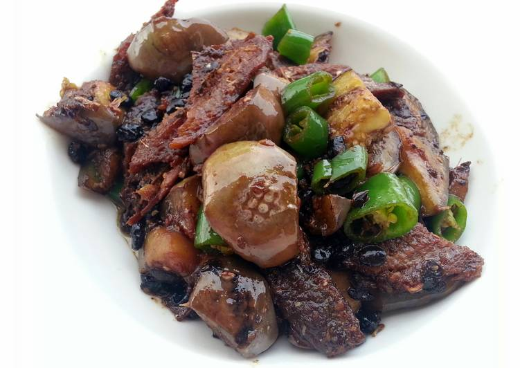 Recipe: Appetizing LG EGGPLANT AND FRIED DACE WITH SALTED BLACK BEAN ( FUSION CANNED  FOOD COMBO )