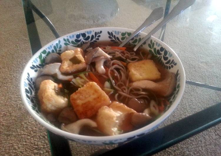 Soba Noodles With Fried Tofu