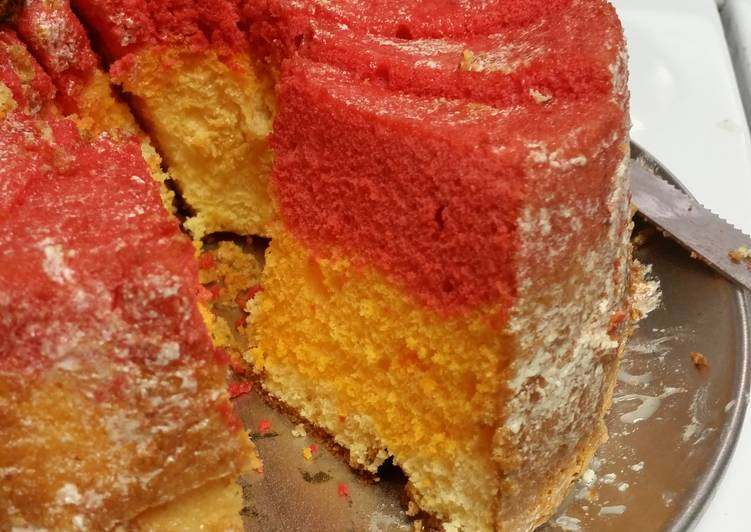Recipe of Homemade Multicolored Angel Cake