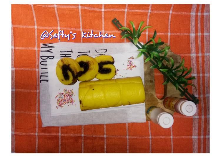 Resep 🍥Bolu Gulung Durian Coklat Lumer🍥, Bikin Ngiler