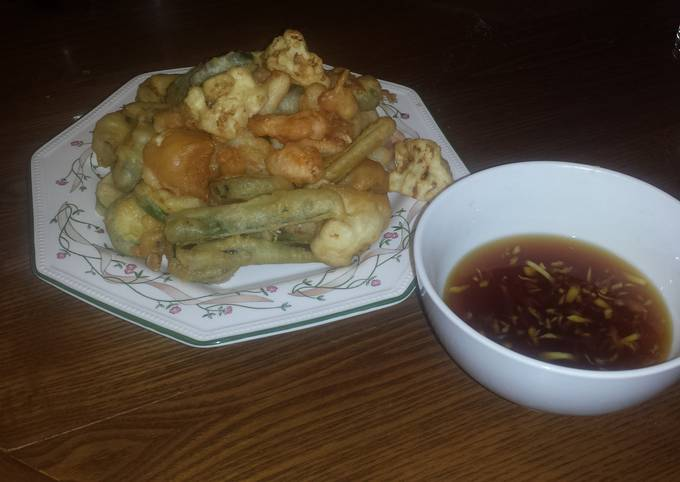 Tempura and Ginger Soy Sauce