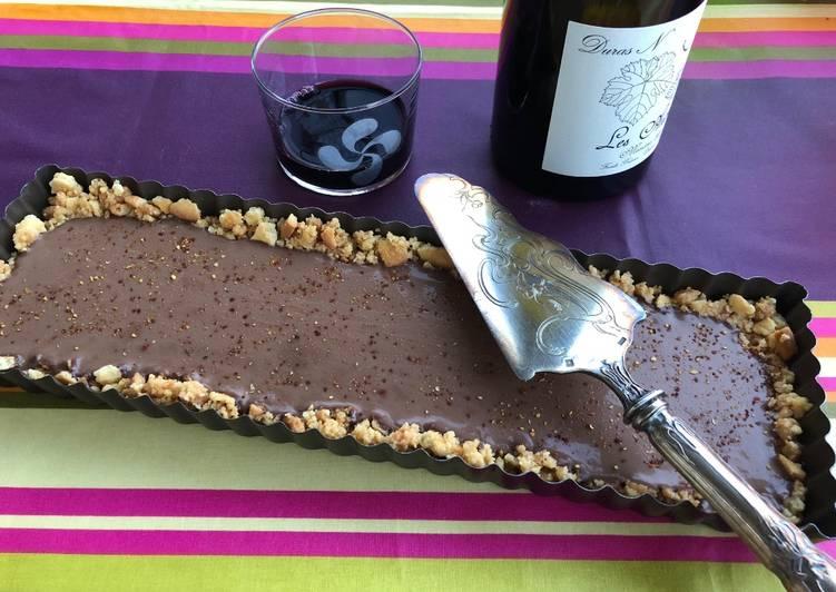 Tarte froide chocolat noir piment d'Espelette