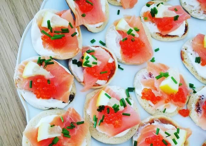 Blinis au saumon