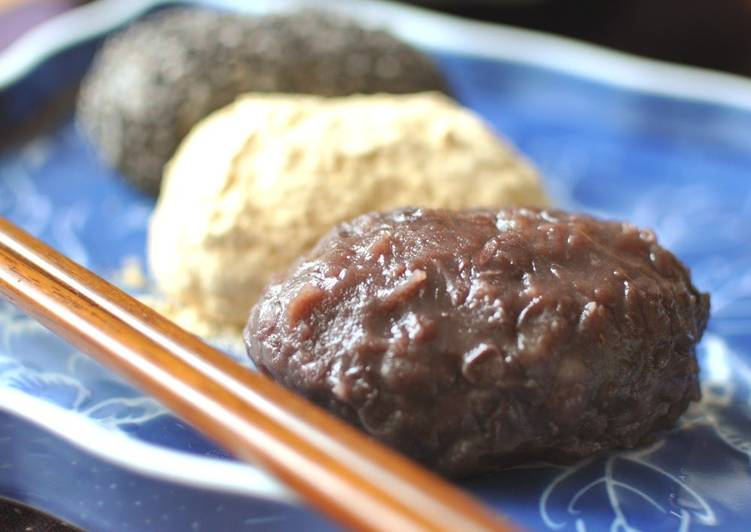 Steps to Prepare Any-night-of-the-week Spring Botamochi and Autumn Ohagi