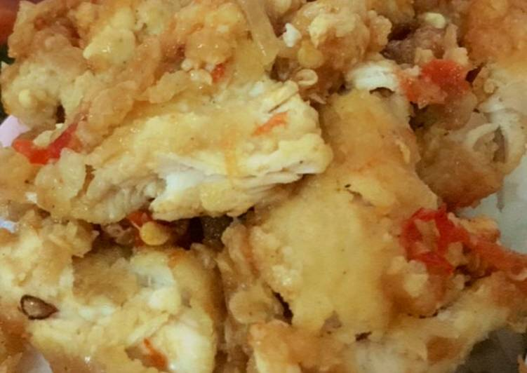 Ayam Geprek Crispy Sambel Bawang