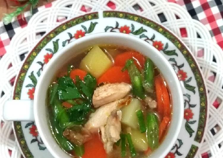 Resep Praktis 128. Sup Ayam mirip KFC 😋 Cita Rasa Tinggi