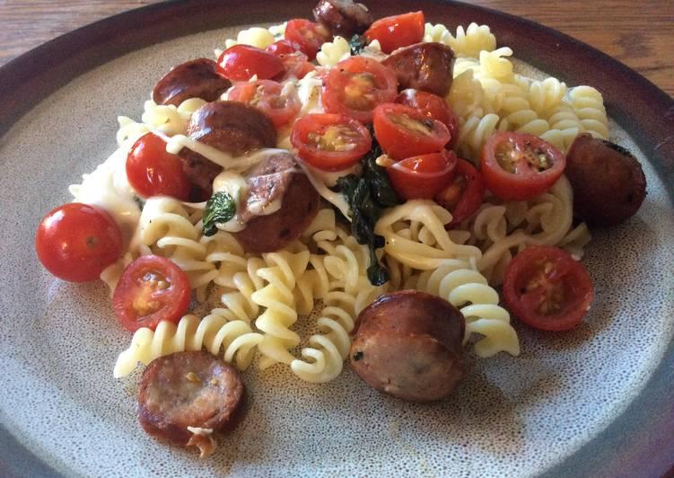 Caprese Pasta with Sausage