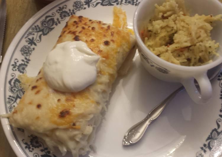 Chicken and rice enchiladas