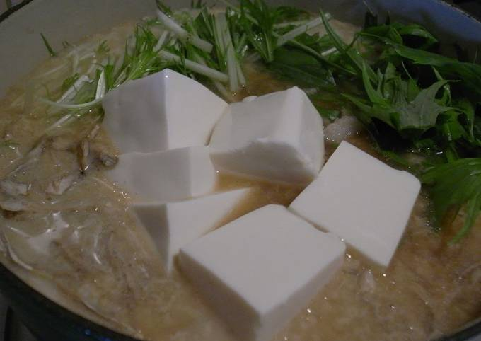 Recipe of Speedy Easy on the Stomach! Soy Milk Hot Pot for a Late Night Dinner