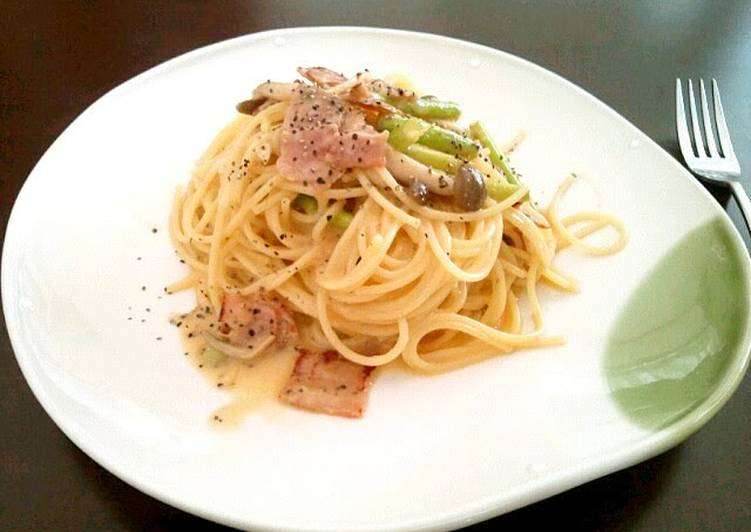 How to Prepare Tasty No Oil or Cream Added! Whole Egg Spaghetti Carbonara
