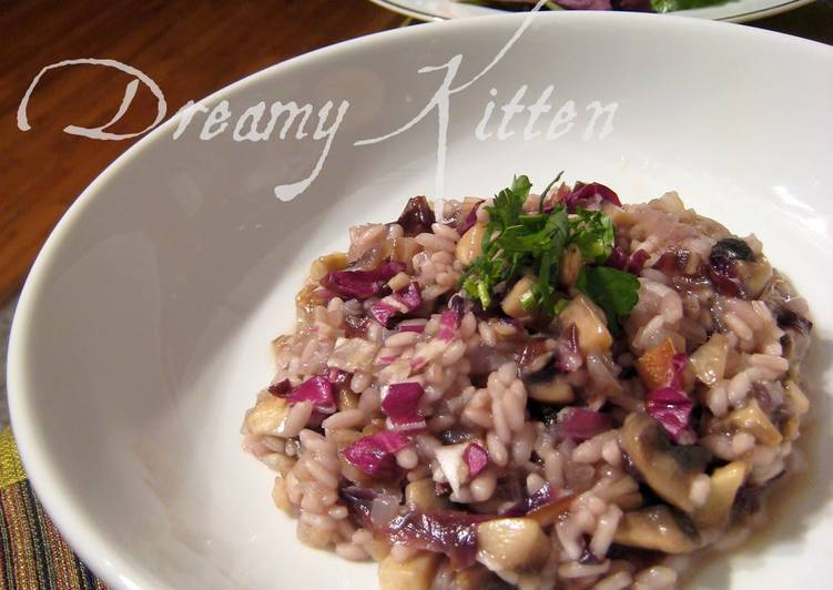 Radicchio And Mushroom Risotto Recipe By Cookpad Japan Cookpad