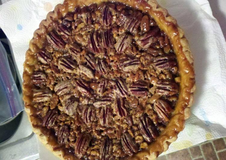 Carmel pecan pie