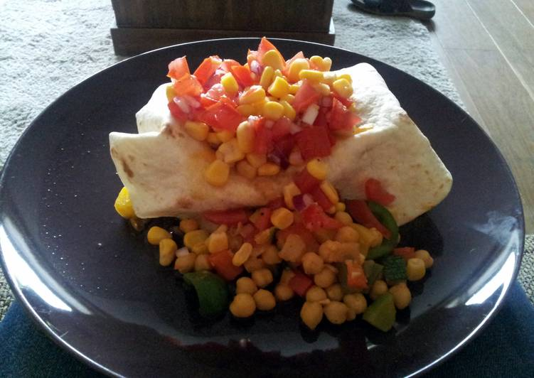 Recipe: Appetizing Burritos with chickpeas and salsa