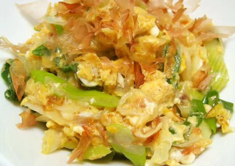 Grandmother's Dinner Easy Diet Perfect Combat that Cold! Japanese Leek with Eggs