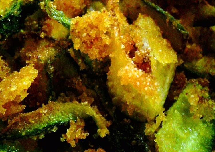 crispy zucchini juliennes