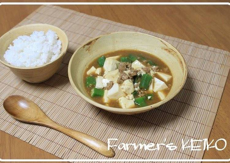 Recipe of Favorite Japanese-style Curry Soup with Tofu and Okra