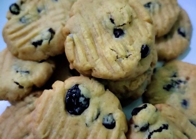 Bagaimana Menyiapkan Chocochips cookies, Enak