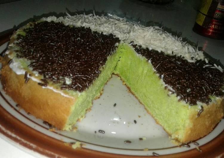 Bagaimana Menyiapkan Bolu Panggang Pandan coklat keju superrr moisss, Bikin Ngiler
