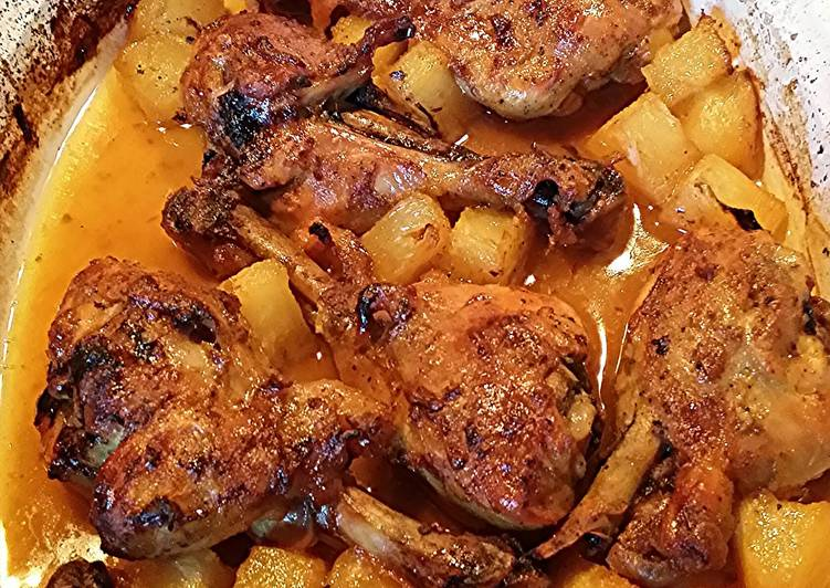 How to Prepare Recipe of baked chicken with pineapple