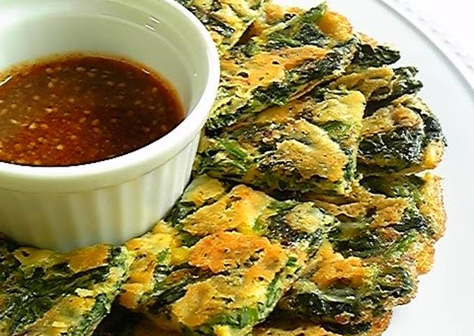 Crispy Crunchy Cheese and Spinach Chijimi