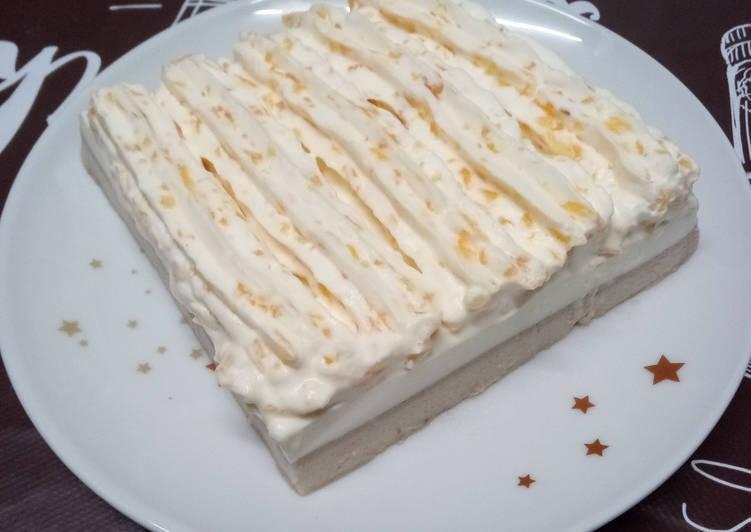 Trifle de banane, au yaourt et à la chantilly au kaki