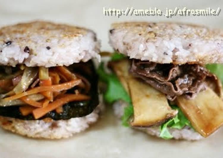 Very Easy Rice Burgers Recipe By Cookpad Japan Cookpad