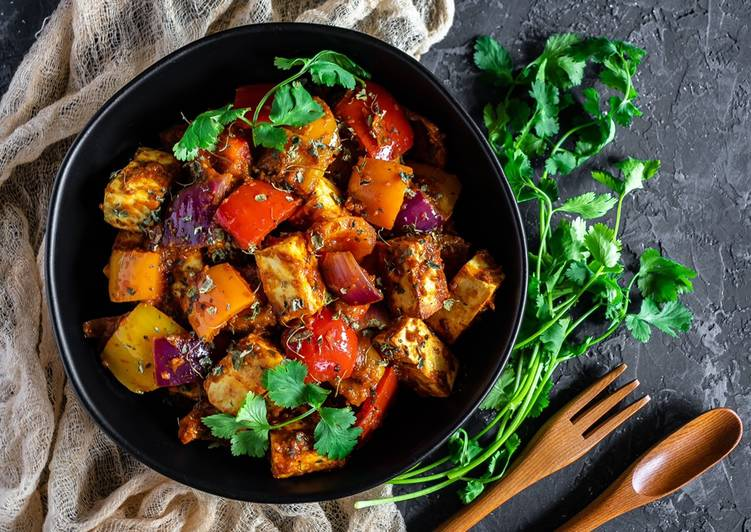 5 Minute Easiest Way to Prepare Vegan Paneer jalfrezi
