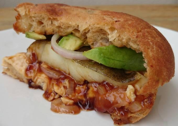 Fish And Avocado Burger