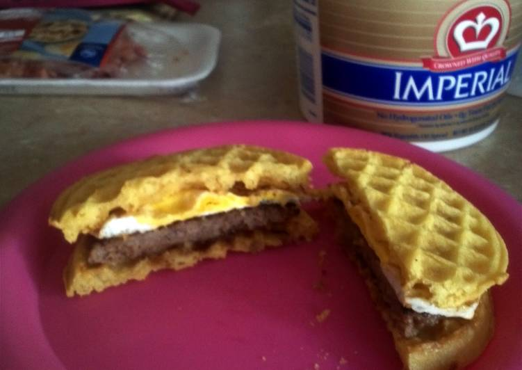 Waffle Breakfast Sandwiches (like Jack in the Box)