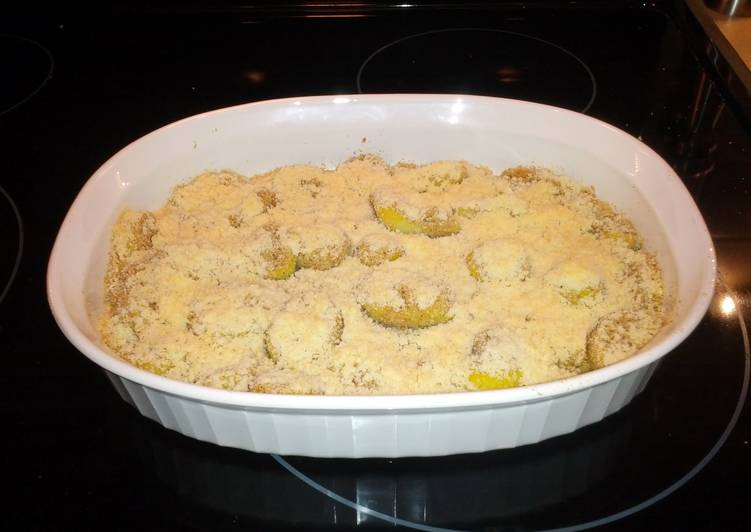 Breaded Yellow Squash Parmesan