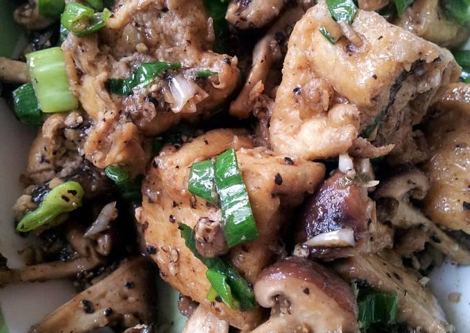 Tahu Shitake Mushroom Black Pepper