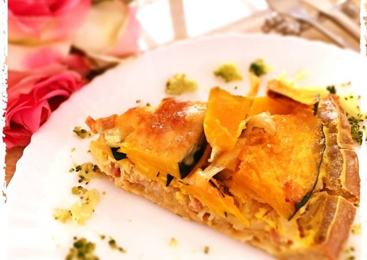 Step-by-Step Guide to Prepare Homemade Warming and Rich Buckwheat Quiche with Kabocha Squash and Soy Milk