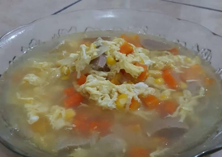 Sup jagung wortel telur