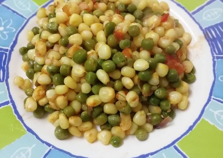 Steps to Make Any-night-of-the-week Soft maize with green peas