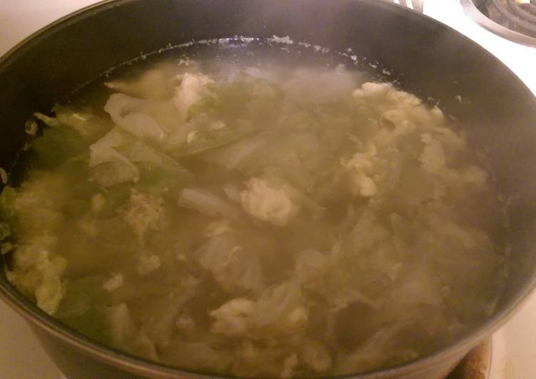 Chicken Cabbage Egg Drop Soup