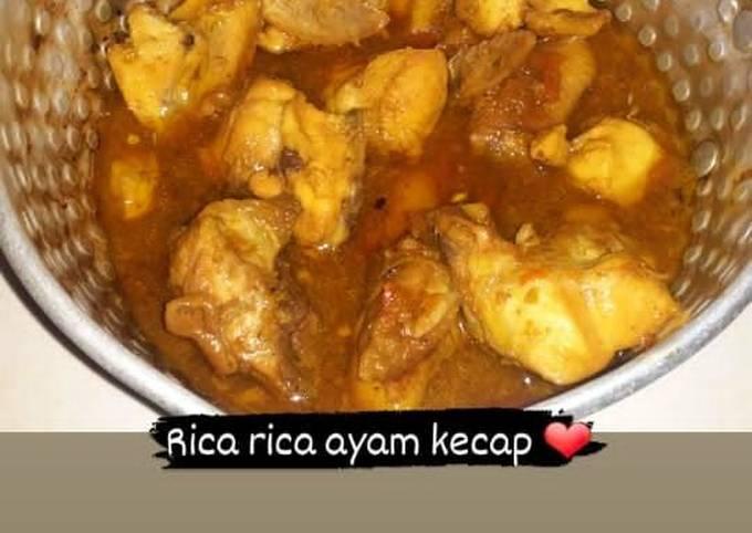 Cara buat Rica rica ayam kecap pedas Sederhana dan Mudah Dibuat