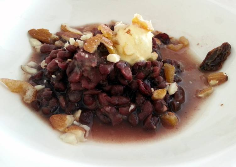 Red Bean Dessert With Topping