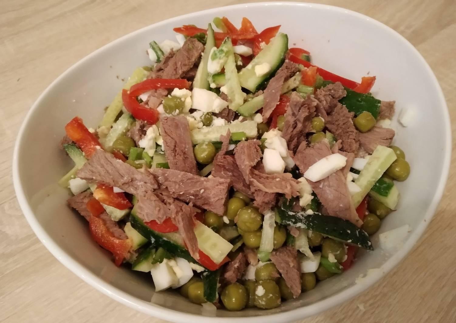 сегодня салат из говядины отварной рецепт с фото есть ряд