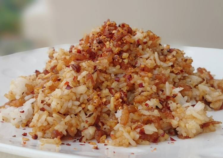 Fried Rice With Dried Shrimp In 5 Minutes