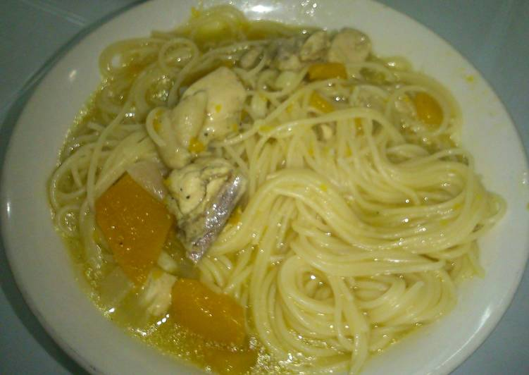 Step-by-Step Guide to Prepare Speedy Chicken squash noodles soup