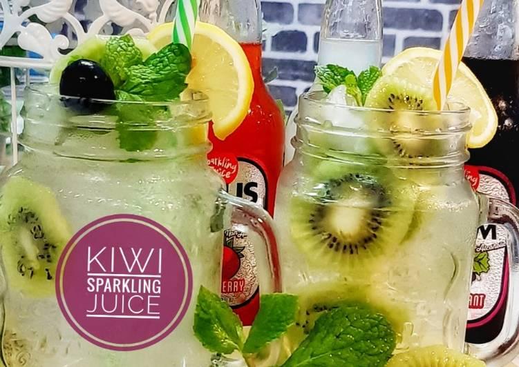 Kiwi Sparkling Juice #minuman #maratonraya #cookpadmalaysia - resepipouler.com