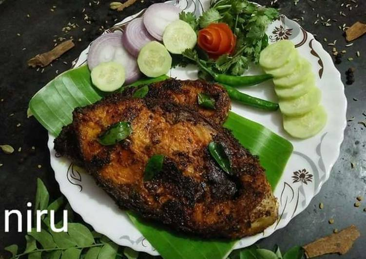 Grandmother's Dinner Ideas Quick Fish masala fry