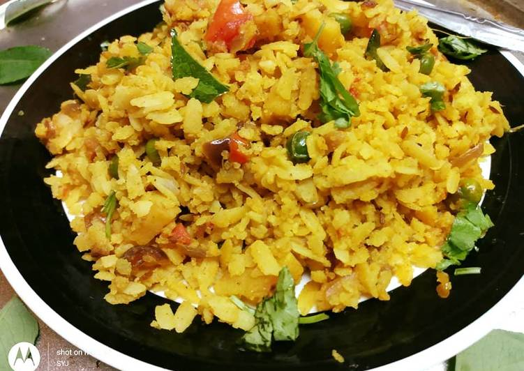 Steamed Poha/ Steamed flattened Rice (Indorie style poha)