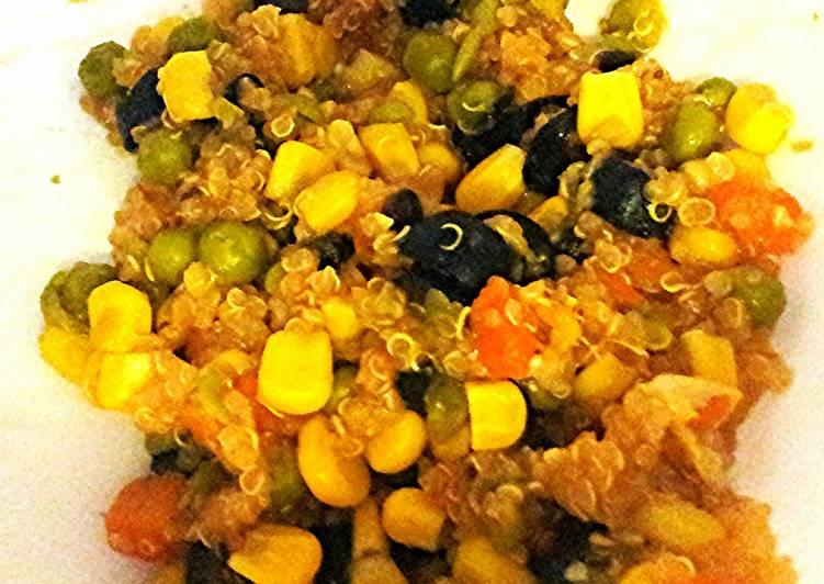 Easy Quinoa Succotash (RICE COOKER VERSION)