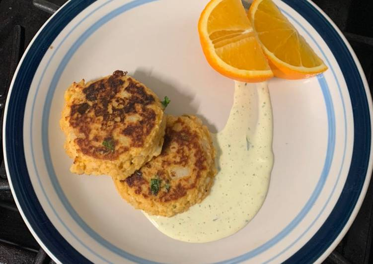 Recipe: Yummy Potato Cakes with Lemon Aioli