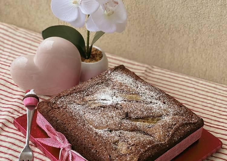Torta al Cioccolato fondente con Mascarpone e Banana
